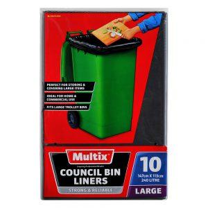 Multix Council Bin Liners Large 10 pack