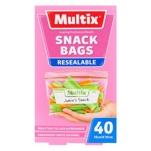 Multix Resealable Snack Bags 40 pack