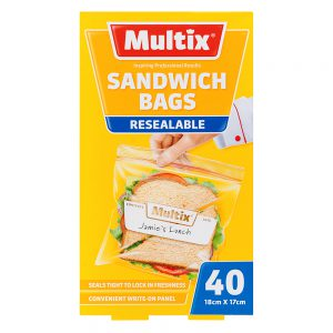 Multix Resealable Sandwich Bags 40 pack