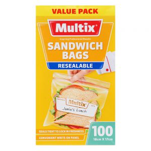 Multix Resealable Sandwich Bags 100 pack