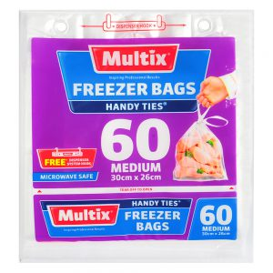 Multix Freezer Bags Medium 60 pack