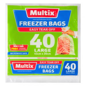 Multix Freezer Bags Large 40 pack