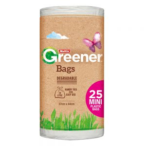 Multix Greener Degradable Bags Mini 25 pack