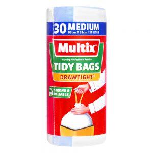 Multix Drawtight Tidy Bags Medium 30 pack