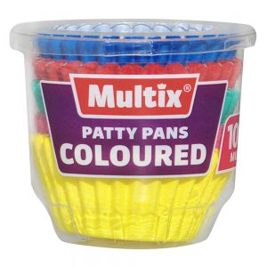 Multix Patty Pans Coloured Mini 100 pack