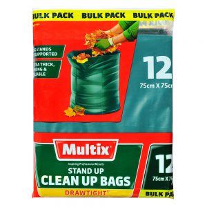 Multix Stand Up Drawtight Clean Up Bags 12 pack