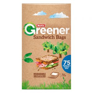 Multix Greener Sandwich Bags 75 pack