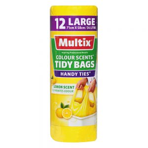 Multix Colour Scents Tidy Bags Large 12 pack | Lemon Scent