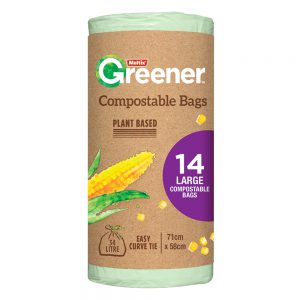Multix Greener Compostable Bags Large 14 pack