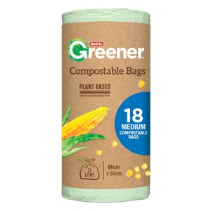 Multix Greener Compostable Bags Medium 18 pack