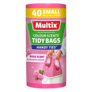 Multix Colour Scent Handy Ties Tidy Bag Small 40 pack | Rose Scent