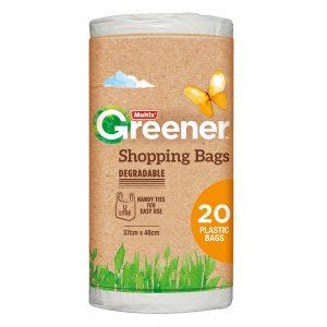 Multix Greener Degradable Shopping Bags Small 20 pack