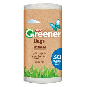 Multix Greener Degradable Bags Medium 30 pack