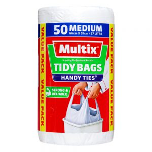 Multix Handy Ties Tidy Bags Medium 50 pack