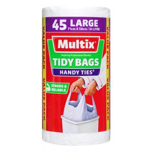 Multix Handy Ties Tidy Bags Large 45 pack