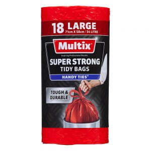 Multix Super Strong Tidy Bags Large 18 pack