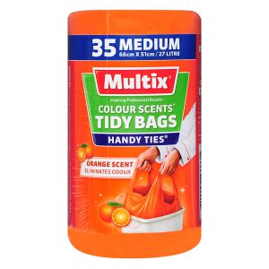 Multix Colour Scents Handy Ties Tidy Bags Medium 35 pack | Orange Scent