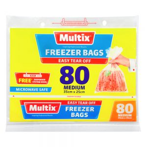 Multix Freezer Bags Medium 80 pack