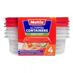 Multix All Purpose Containers 739mL 4 pack