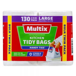 Multix Handy Ties Kitchen Tidy Bags Large 130 pack