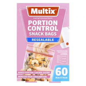Multix Resealable Portion Control Snack Bags 60 pack