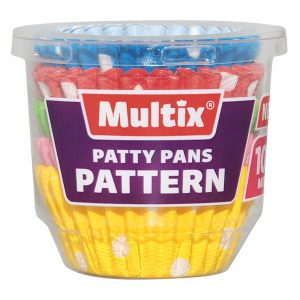 Multix Patty Pans Pattern Mini 100 pack