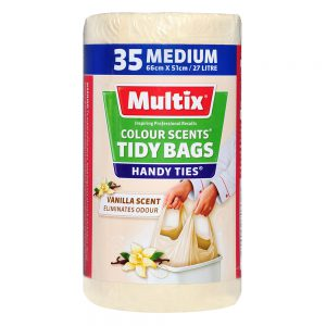 Multix Colour Scents Handy Ties Tidy Bags Medium 35 pack | Vanilla Scent