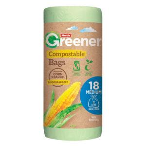 Multix Greener Compostable Kitchen Tidy Bags Medium 18 pack