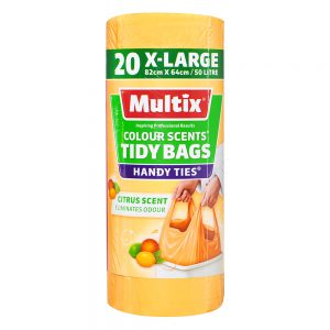 Multix Colour Scents Handy Ties Tidy Bags X-large 20 pack | Citrus Scent
