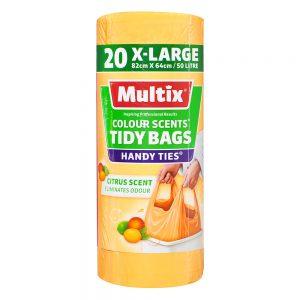 Multix Colour Scents Handy Ties Tidy Bags X-large 20 pack | Citrus Scent