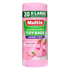 Multix Colour Scents Handy Ties Tidy Bags X-large 20 pack | Floral Scent