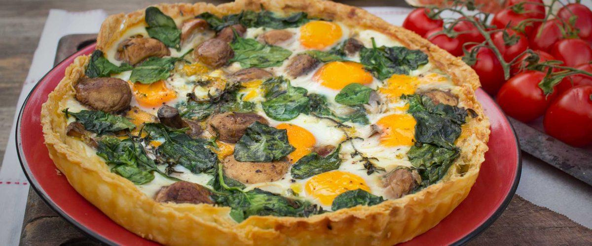Mushroom Egg And Spinach Breakfast Tart Multix