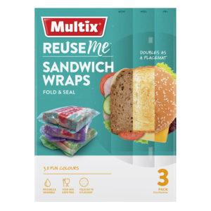 Multix Reuse Me Sandwich Wraps 3pk