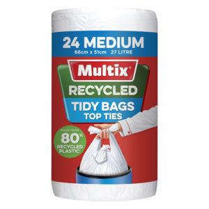 Multix Recycled Kitchen Tidy Bag Medium 24pk