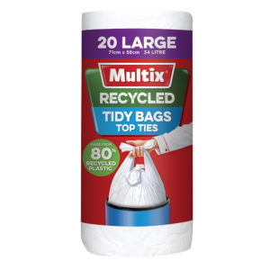 Multix Recycled Kitchen Tidy Bag Large 20pk
