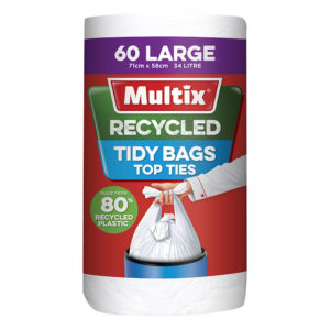 Multix Recycled Kitchen Tidy Bag Large 60pk