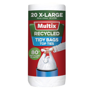 Multix Recycled Kitchen Tidy Bag XLarge 20pk