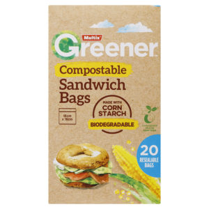 Multix Greener Compostable Sandwich Bags 20 Pack
