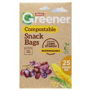 Multix Greener Compostable Snack Bags 25 Pack
