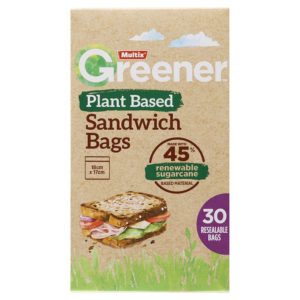 Multix Greener Plant Based Sandwich Bags 30 Pack