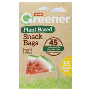 Multix Greener Plant Based Snack Bags 35 Pack
