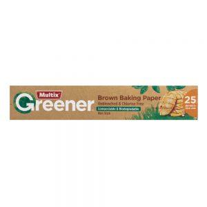 Multix Greener Brown Baking Paper 25m x 30cm