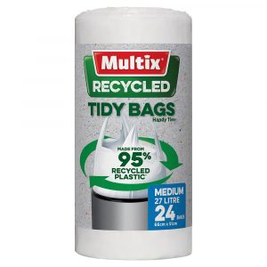 Multix Recycled Kitchen Tidy Bags Medium 24 Pack